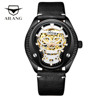 AILANG Top brand diesel watch gear auto men's wrist watch military diver reloj leather belt automatic winding clock bracelet men