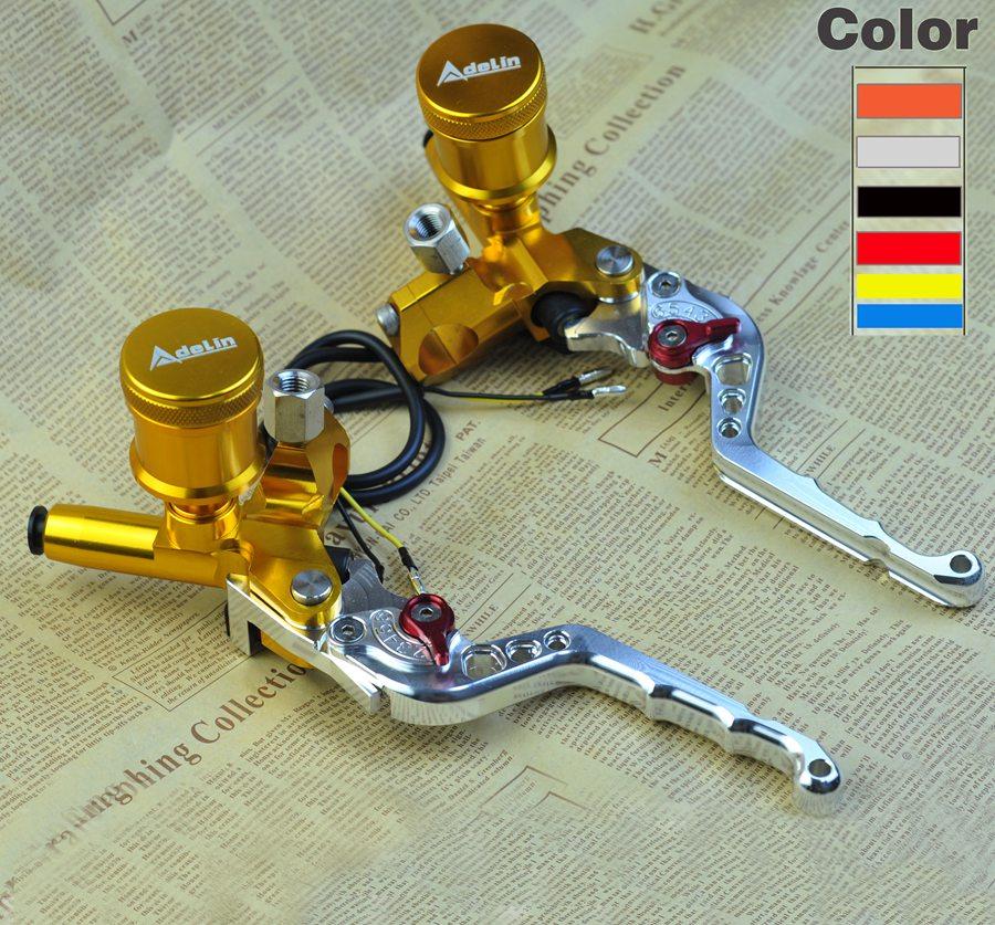 CNC lever Handlebar Hydraulic clutch Brake Pump Master Cylinder Motorcycle Racing motorbike Universal For Yamaha Kawasaki