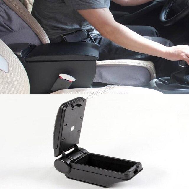 ABS Black Armrest Center Console Car Armrest Storage Fit For VW Volkswagon Tiguan 2009 2010 2011