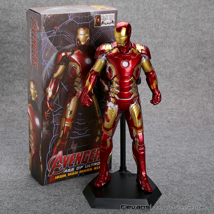 marvel the avengers stark iron man 3 mark vii mk 42 43 mk42 mk43 pvc action figure collectible model toys 18cm kt395 Crazy Toys Avengers Age of Ultron Iron Man Mark XLIII MK 43 PVC Action Figure Collectible Model Toy 12 30cm