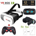 New Google Cardboard VR Virtual Reality 3D Glasses VR BOX II 2.0 Version for 3.5-6.0 inch Smartphone+Bluetooth Controller 4.0 B5