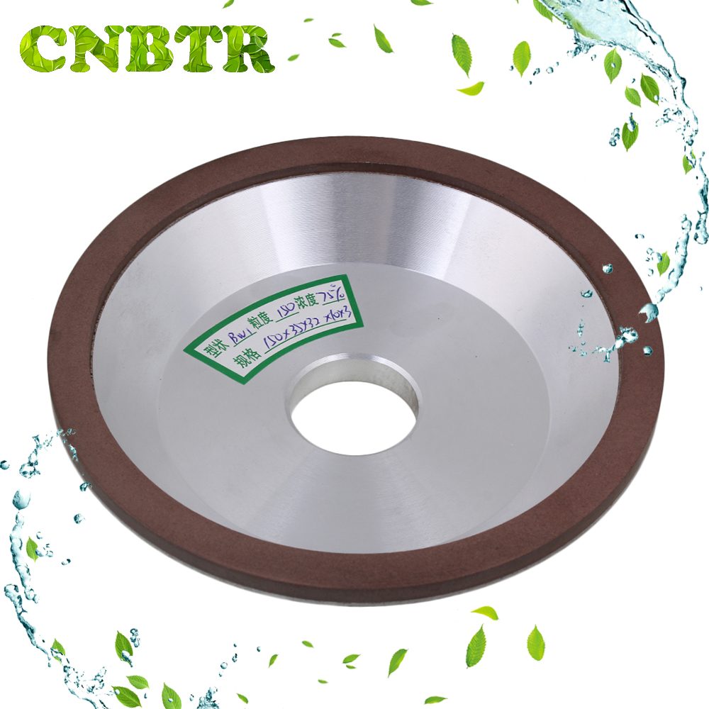 CNBTR 15cm OD Cup Bowl Shape Grinding Wheel Grit 150 Cutting Tool Diamond Width 1cm  цены