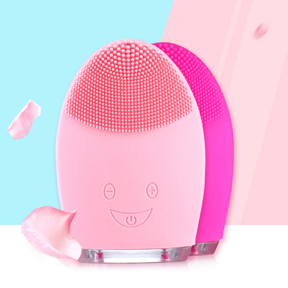 Facial Cleansing Brush Sonic Vibration Face Cleaner Silicone Waterproof Deep Pore Cleaning Electric Face Cleanser Massage Brush facial cleansing brush sonic vibration mini face cleaner electric silicone deep pore cleaning electric brush