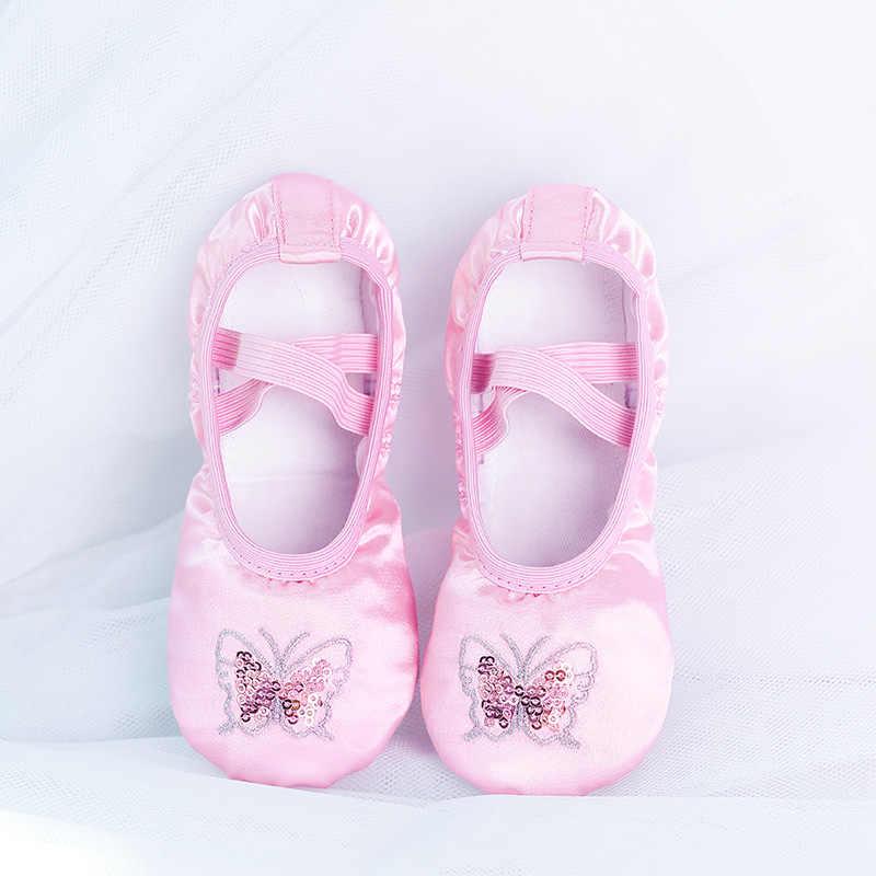 Children Girls Kids baby Ballet Dance Shoes Flat Slippers Split Sole Shoes 24-39