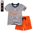 KW Brand 12M-6T Colorful Striped Boys Clothing Sets 2017 Summer Casual Baby Boys Clothes Children Clothing for Boys Kids S
