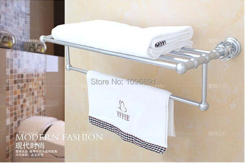 Luxurious brass crystal chrome plated towel rack towel - Chrome plated brass bathroom accessories ...