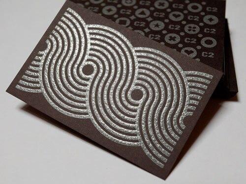 Us 99 0 Freies Verschiffen Individuelle Kreative Design Visitenkarte Silber Folienprägung 600gsm Braun Karton Grade Visitenkarten In Freies
