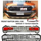 OWN DESIGN MODIFIED GRILL 4 Led front Racing grills grille black front grill trims for Ranger wildtrak T7 T8 txl pickup 2015-18