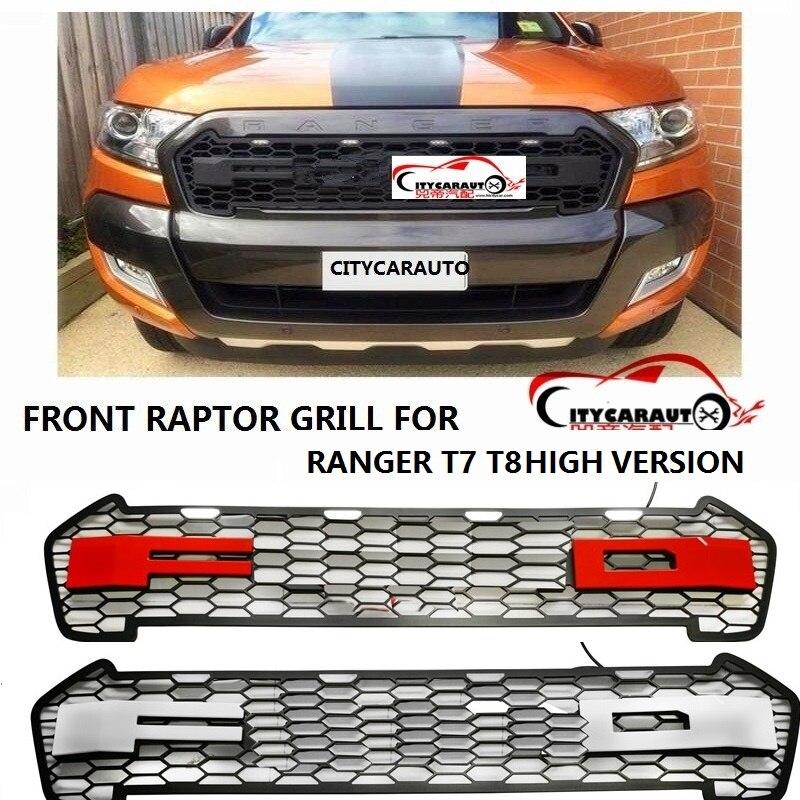PROPRE CONCEPTION MODIFIÉ GRILL 4 led avant Racing grills grille noir avant grill garnitures pour Ranger wildtrak T7 T8 txl ramassage 2015-18