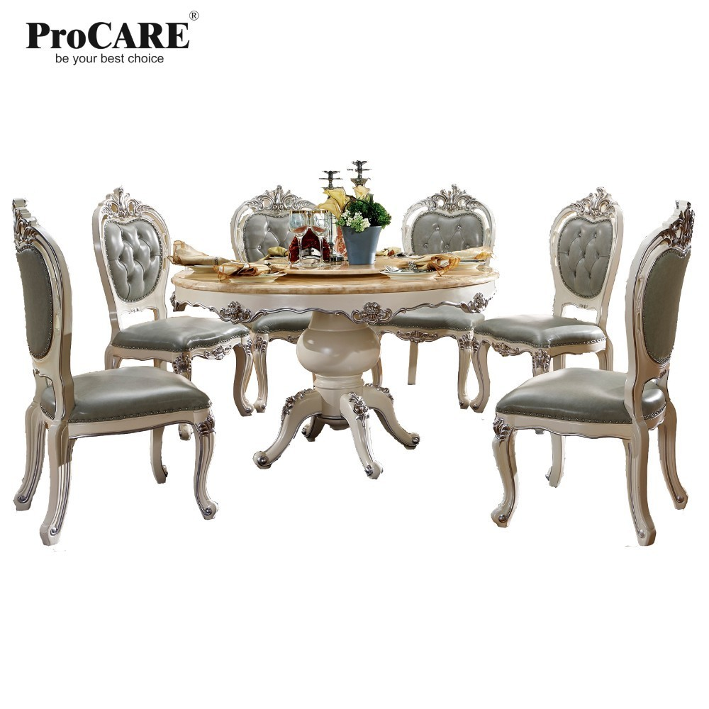 LUXURY EUROPEAN AND AMERICAN STYLE FURNITURE ROYAL SERIES DINING TABLE 8015 8010