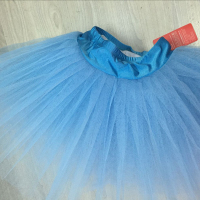High Quality Professional Ballet Costumes 7 Layers Blue Hard Organdy Platter Half TUTU Women Training Skirt