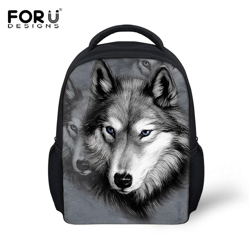 New 3D Wolf Head Children Book Bags For Girls Boys Cute Cartoon ... 29ff8675457ba