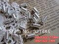 Plateado plata de la joyería 2.5mm tamaño externo primavera crimp end caps sujetador abrocha clips para cordón de cuero 1mm