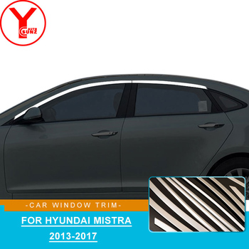 Stainless Steel up door car window trim For Hyundai Mistra 2013-2017 moulding trim strip stickers For Mistra accessories YCSUNZ