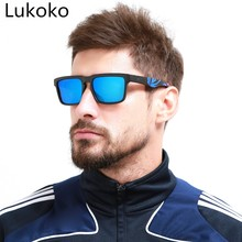 2018 MLLSE KEN BLOCK Sunglasses Men Square Frame Classic Brand Designer 2018 Hot Rays Driving Male Sun Glasses Shades oculos(China)