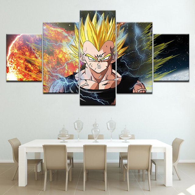 Us 5 49 44 Off Hd Dragon Ball Z Super Goku Fighting Hot Japan Anime Wall Art Canvas Paintings Poster 5 Pieces Large Size Frame Artwork In Painting
