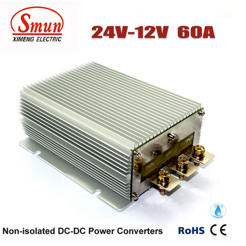 24VDC to 12VDC 60A 720W Step Down DC-DC Converter Car Power Supply With CE RoHS Approved ce rohs approved 150w dc to dc converter sd 150c 24 48v to 24v led power supply