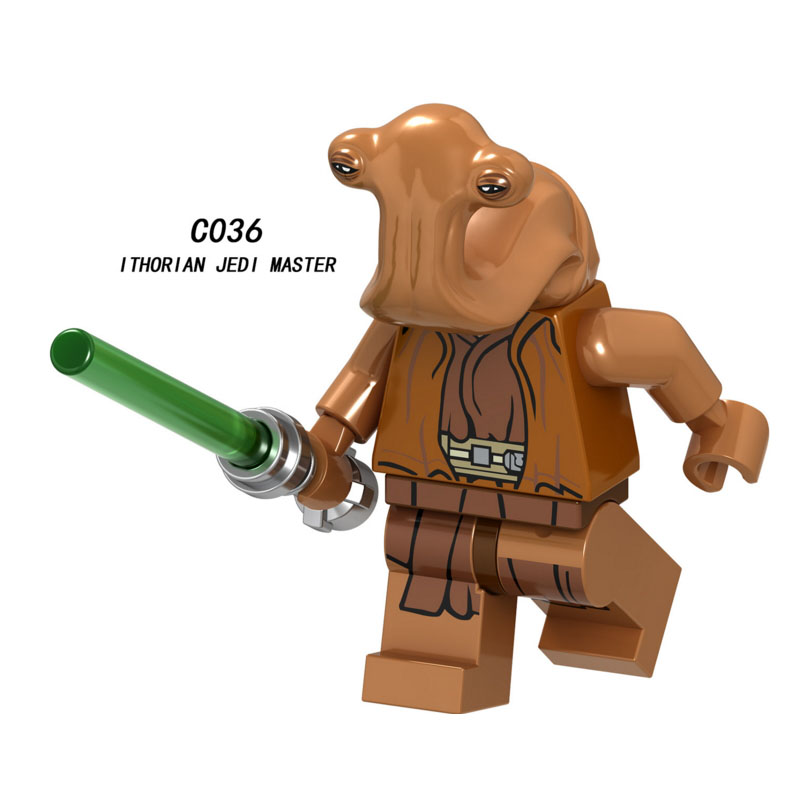 Single Sale Super Heroes Star Wars Ithorian Jedi Master 036 Model Building Block Figure Brick Toy Gift Compatible Legoed Ninjaed