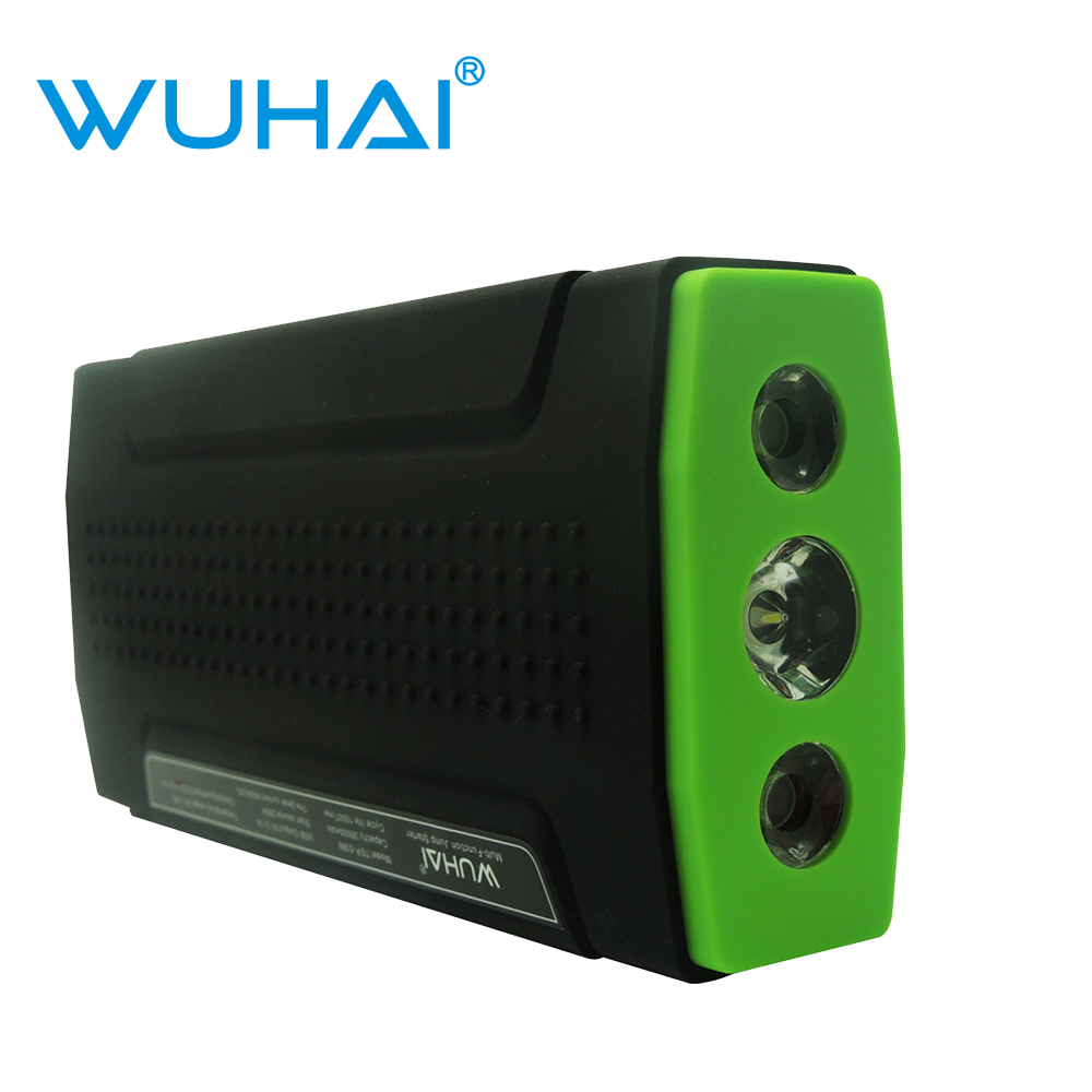 WUHAI car jump starter auto vehicle motorcycle emergency battery jumper start power bank for iPad iPhone