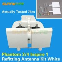 Refitting Antenna Kit Modified Antenna Extended Range White Color for DJI Phantom 4/3 Inspire 1 Remote Controller