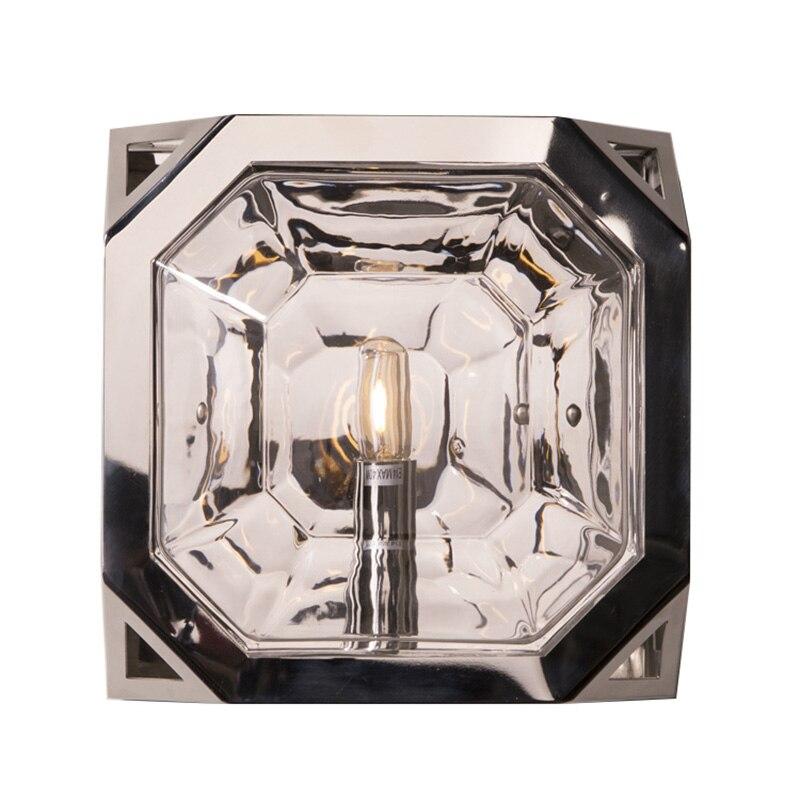 Polished Nickel Finish Gl Lampshade