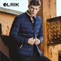 OLRIK 2016 Brand New Winter Brief Paragraph Warm Down Cotton Jacket Coat Winter Men Overcoats M-3XL Size