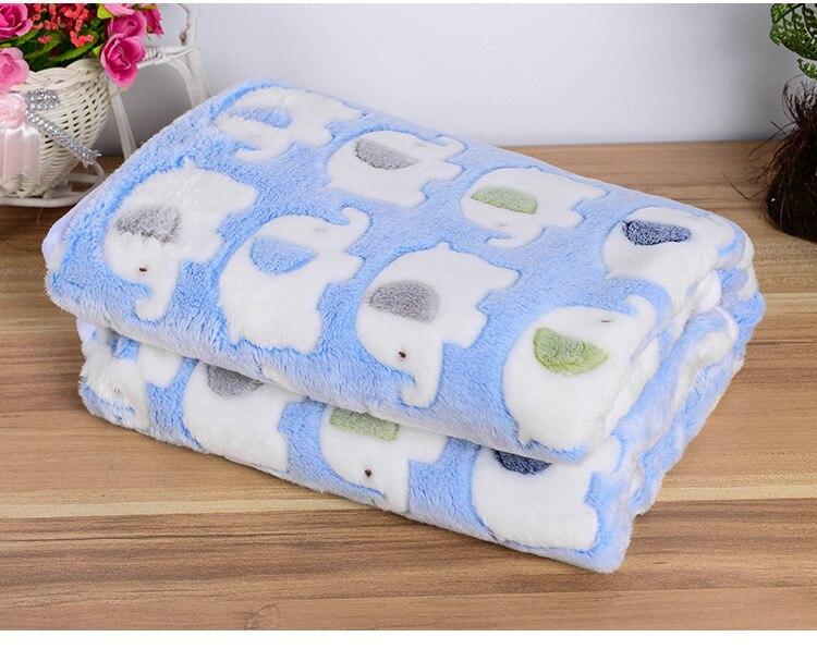 New Soft classical Baby Kids Blanket Throw couverture Elephant Fleece pink cartoon rabbit printed cobertor Children 90*110cm