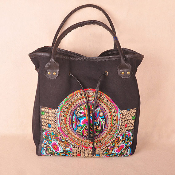 Free Shipping! top-wholesale nation embroidery embroidered bag national trend bags handbag shoulder bag holder gzgmet spring ring for audio video cctv camera bnc female jack coupler wire connector