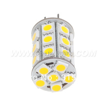 Free Shipment !!! 5pcs/lot Led G6.35 Lamp Lighting Bulb 12VAC/12VDC/24VDC 27LED 5050SMD 4W 540-594LM Dimmable White WarmWhite