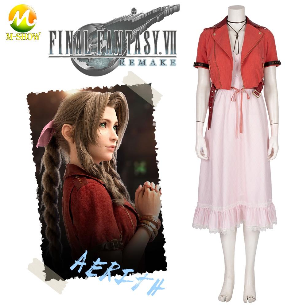 Free Shipping Cosplay Costume Final Fantasy VII 7 Aerith Gainsborough Uniform