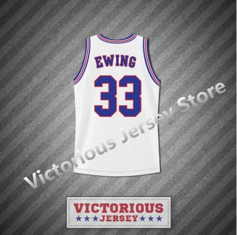 ea711c4b0 Minanser Men s Space Jam Tune Squad Patrick Ewing 33 Basketball Jersey  Stitch Sewn New-in Basketball Jerseys from Sports   Entertainment on  Aliexpress.com ...