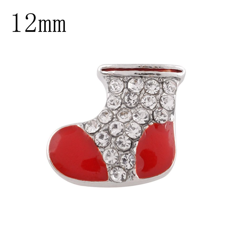 Partnerbeads Girls Christmas Hat Button Santa Claus Socks Gloves Snap Jewelry Fit DIY Bracelet Accessory For Kids Gift KS6194-S