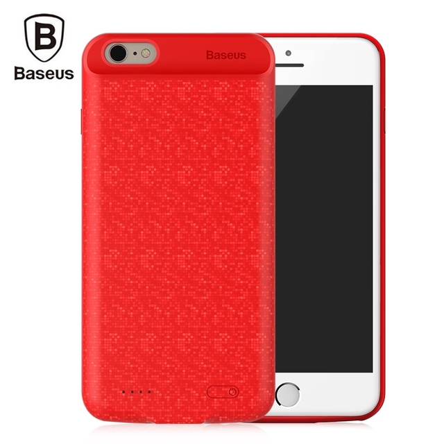 premium selection c51c9 6cea4 US $21.0 10% OFF|Original Baseus Plaid 5000mAh Power Bank Battery Case for  iPhone 6/6s Built in Magnetic Pad with Double Anti falling Protectoin-in ...