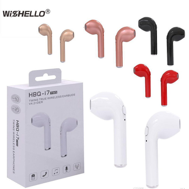 Twins True Wireless Earbuds Mini Bluetooth V4.2 DER Stereo  Sports earphone For iPhone X 8 Note8 HBQ i7 TWS for all smartphone aidm bluetooth earphone mini twins true wireless headphone hand free calling headset for iphone samsung smartphone music earbuds