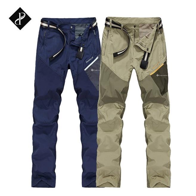 ФОТО Men Outdoor Pants Waterproof Breathable Quick-drying Pants Hunting Climbing Camping Fishing Trekking Beach Running Sports Pants