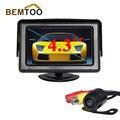 """Bemtoo cámara del coche de 4.3 """"pantalla lcd de coches espejo monitor y cámara de visión trasera de visión nocturna impermeable de copia de seguridad del vehículo cameraa"""