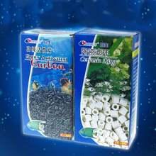 Resun Bio filtr z węglem aktywnym Media ceramiczna biel pierścienie wielki węgiel kokosowy torf do oczyszczania wody w akwarium