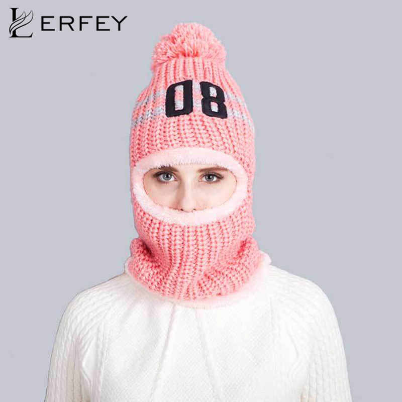 LERFEY Winter Warm Wind Proof Face Mask Neck Helmet Beanies Skullies Bicycle Multifunctional Fleece Knitted Hat for Men Women migeer relogio masculino luxury business wrist watches men top brand roman numerals stainless steel quartz watch mens clock zer