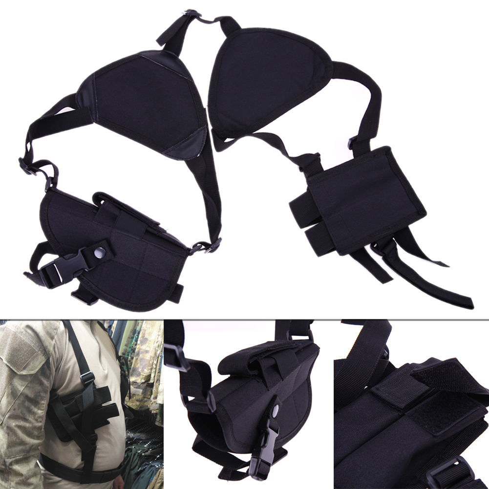 Durable Nylon Military Tactical Outdoor Hunting Shoulder Gun Holster 190x 110 x 50mm Adjustable Vertical Shoulder Gun Holster universal durable adjustable nylon leg mounted gun holster for pistol black