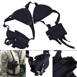 Durable Nylon Military Tactical Outdoor Hunting Shoulder  Holster 190x 110 x 50mm Adjustable Vertical Shoulder  Holster