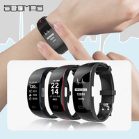 SCOMAS Newest P3 Smart Wrist Band ECG+PPG Measurement Dynamic Heart Rate Monitor USB Charge Fitness Tracker Smart Watch Band