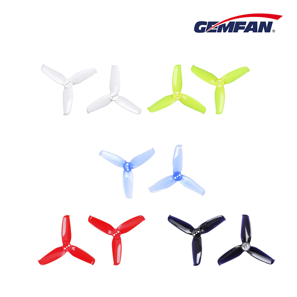 8 pairs Gemfan Flash 2540 2.5x4 2.5 Inch 3-Blade Propeller with 1.5mm Mounting Hole For 1105 <font><b>1106</b></font> <font><b>Motor</b></font> image
