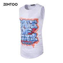 zemtoo Summer Men's Fashion Tank Male Underwear Sleeveless Vest Breathable Flexible Casual Slim Fit Men's Brand Tank Top ZM0166