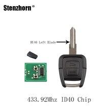 Stenzhorn 2 Пуговицы автомобиля удаленный ключевой новый пульт дистанционного и чип ID40 для Vauxhall Opel Astra 433.92 мГц оригинальный ключ HU46 левой лезвие