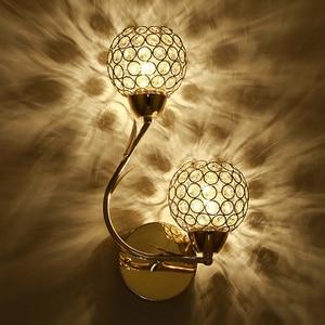 Image 1 - الفن الحديث عالية الجودة الكريستال E27 الجدار مصباح الأوروبي الفاخرة نمط وحدة إضاءة LED جداريّة ضوء للمنزل داخلي نوم غرفة المعيشة الديكور
