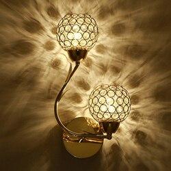 Modern Art wysokiej jakości kryształ E27 kinkiet europejskie luksusowe Style oświetlenie naścienne led do domu kryty sypialnia salon dekoracji w Lampy ścienne od Lampy i oświetlenie na