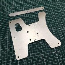 Kit de actualización de placa de carro Y para impresora 3D Creality Ender, soporte de cama calefactable, 3 puntos, cama calefactable Y placa de transporte