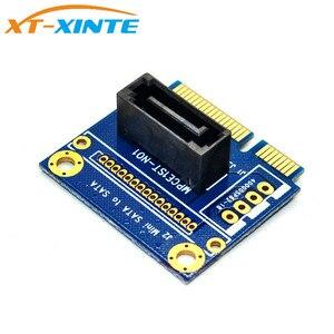 "Image 3 - Carte de convertisseur mSATA vers SATA adaptateur dextension Mini SATA vers 7Pin SATA PCI e demi taille pour disque dur SSD 2.5 ""3.5"""