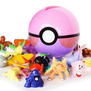 Image 2 - 13 шт. Pokeball + 24 шт., фигурки японского кино и ТВ, экшн фигурки, аниме игрушки, мастер шар, кукла для питомцев, pokebotas, подарки на день рождения детей