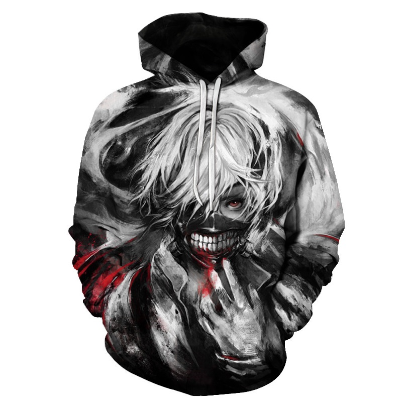Classic Anime Tokyo Ghoul 3d Hoodies Autumn Fashion Hoodie Harajuku Hip Hop Men Women Hooded Sweatshirt Asian Size S-6xl